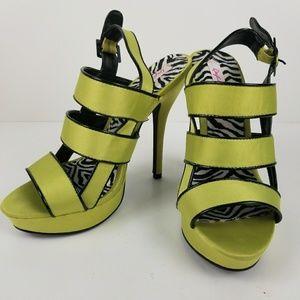 Qupid stiletto platform heels.